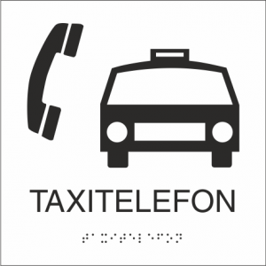 Taxitelefon 150x150 mm