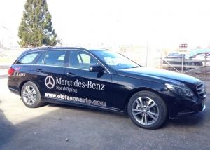 Mercedes E-klass demobil till Olofsson Auto