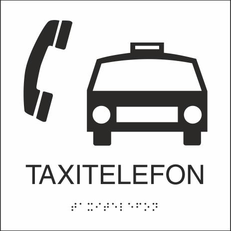 Taxitelefon 150x150 mm